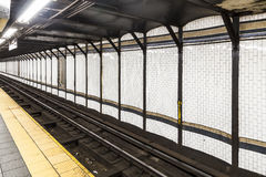 Metro in New York with old historic tiles Royalty Free Stock Photos