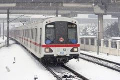 metro śnieg s Shanghai Fotografia Royalty Free
