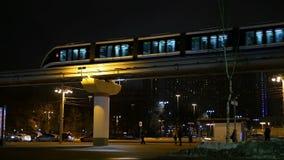 Metro Night traffic stock video footage