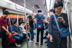 Metro no ¼ Œchina do guangzhouï fotografia de stock royalty free