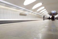 Metro no dvizheniia Fotos de Stock