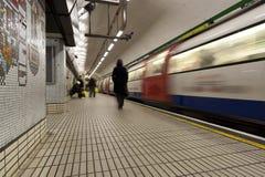 Metro no movimento imagem de stock