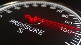 Metro o indicatore di pressione rappresentazione 3d Fotografia Stock