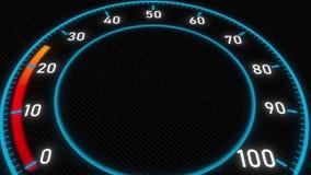Metro o indicatore futuristico Animazione concettuale 3D video d archivio