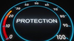 Metro o indicatore futuristico di protezione Animazione concettuale 3D archivi video