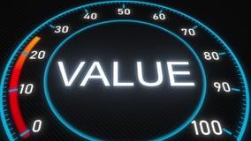 Metro o indicatore futuristico di valore Animazione concettuale 3D video d archivio