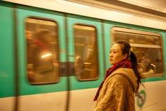 Metro París Foto de archivo