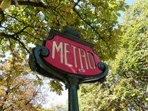 Metro Parijs royalty-vrije stock afbeeldingen