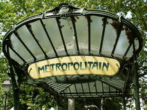 Metro Paris Imagem de Stock Royalty Free