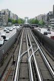 Metro in Paris stockfoto