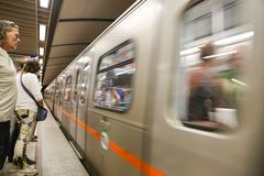 Metro in Paris Royalty Free Stock Photography