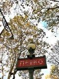 Metro in paris stock image
