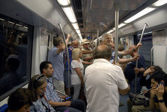 METRO PASSENGERS Stock Photos
