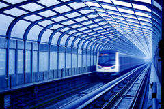 Metro in Peking China stock afbeelding