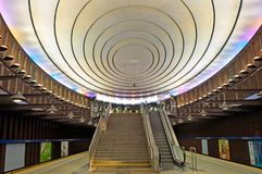 Metro Plac Wilsona. In Warsaw, Poland royalty free stock photography