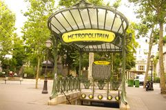 Metro Place des Abbesses in Montmartre royalty free stock image