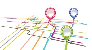 Metro plan - metro mapa ilustracja wektor