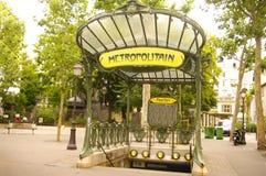 Metro-Platz-DES-Äbtissinnen in Montmartre Lizenzfreies Stockbild