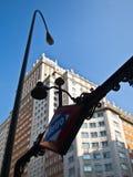 Metro Plaza DE España in Madrid Stock Afbeeldingen