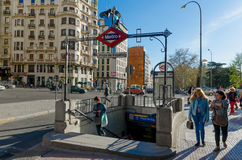Metro Plaza de espana Royalty Free Stock Images