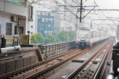 Metro pociąg Szanghaj, Chiny Zdjęcia Stock
