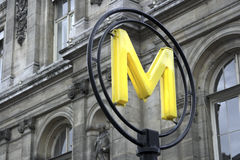 metro popołudniu w połowie drogi do Paryża Zdjęcia Royalty Free