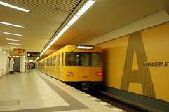 Metro post in Berlijn Stock Foto's