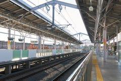 Metro post in de Prefectuur van Japan Tokyo door spoorwegvervoer het populairst en modern Met toegang tot alle gebieden stock afbeeldingen