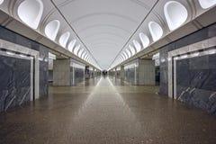 Metro post Dostoevskaya, opende 2010 in het centrum van Moskou, Rusland Stock Foto's