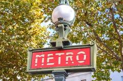 Metro post in Parijs Stock Foto's