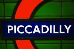 Metro post Piccadilly Stock Afbeeldingen