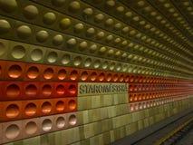 Metro post in Praag Royalty-vrije Stock Afbeeldingen