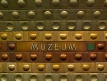 Metro post in Praag Stock Afbeeldingen