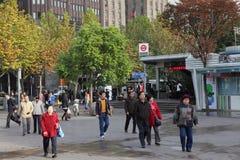 Metro post in Shanghai Royalty-vrije Stock Afbeeldingen