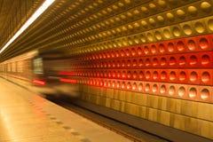 Metro in Prag, Tschechische Republik Lizenzfreie Stockfotos