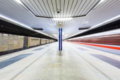 Metro in Prag, Tschechische Republik Lizenzfreies Stockfoto