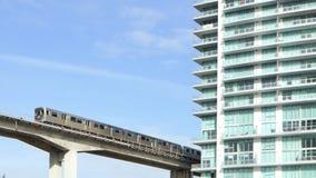 Metro rail and architecture Miami stock video
