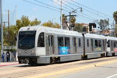 Metro Rail in Los Angeles Royalty Free Stock Photos