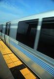 Metro Rail Train at platform Stock Image