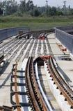 Metro Railway Construction Stock Photo