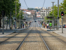 Metro railway in Porto Stock Photo