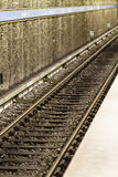 Metro railway track Royalty Free Stock Photos
