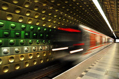 Metro rojo Imágenes de archivo libres de regalías