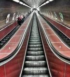 Metro rood royalty-vrije stock foto