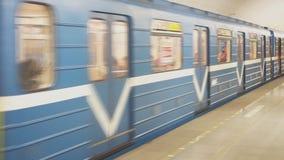 Metro in Rusland stock footage