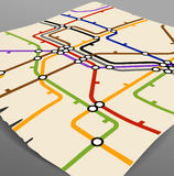 Metro scheme Stock Photo