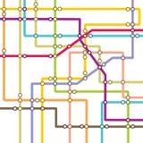 Metro scheme - subway map Royalty Free Stock Photo