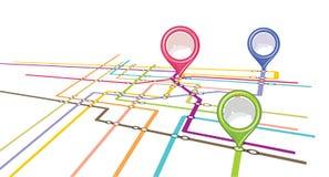 Metro scheme - subway map Royalty Free Stock Images