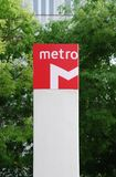 Metro sign Stock Photo