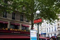 Metro sign art deco Royalty Free Stock Photo
